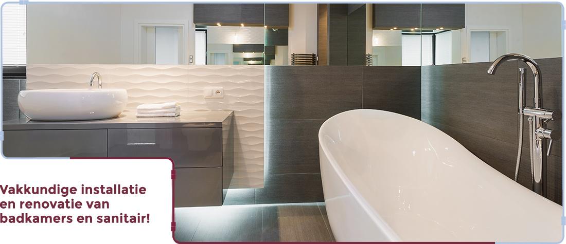 Badkamer verbouwen door de installateur uit Oedelem